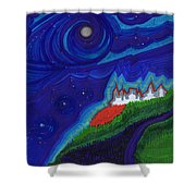 Castle On The Cliff By Jrr Shower Curtain