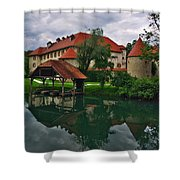 Castle Otocec Shower Curtain