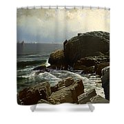 Castle Rock At Marblehead Shower Curtain