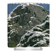 104619-castle Rock In Winter Dress Shower Curtain