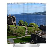 Castle Ruins On Loch Ness Shower Curtain