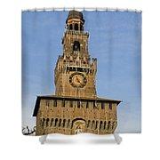 Castle Sforzesco Milan Shower Curtain