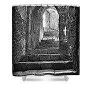 Castle Subterranean Staircase Shower Curtain