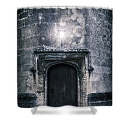 Castle Tower Shower Curtain by Joana Kruse
