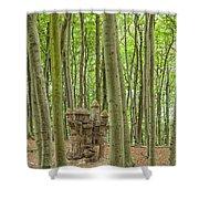 Castle Tree Stump Shower Curtain