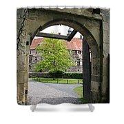 Castle Vischering Archway Shower Curtain
