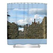 Castle Wall Walk Shower Curtain
