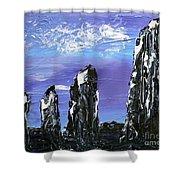 Castlenalact Standing Stones Shower Curtain