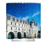Castles Of France Shower Curtain
