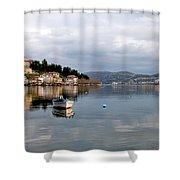 Kastoria Lake In Greece Shower Curtain