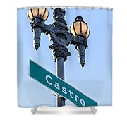 Castro Lightpole Shower Curtain