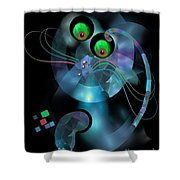 Cat 007-13 Marucii Shower Curtain