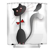 Cat 729 Shower Curtain