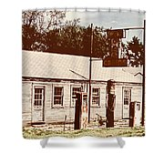 Cat Cabins And Gas Station Shower Curtain