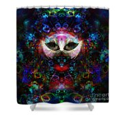 Cat Carnival Shower Curtain by Klara Acel