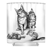 Cat Chips  Shower Curtain
