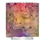 Cat Collage Shower Curtain
