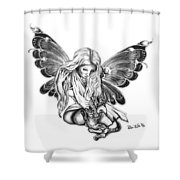 Cat Fairy  Shower Curtain