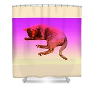 Even If Your Little Cat Is Resting In Space Or In Heaven She Still Loves You  Shower Curtain