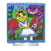 Cat In Wonderland Shower Curtain