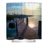 Cat Island Dock Shower Curtain