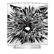 Cat Iwan Shower Curtain