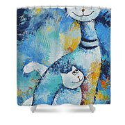 Cat Mommy Shower Curtain