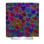 Cat Party Shower Curtain