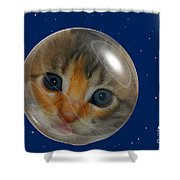 Cat Planet Shower Curtain