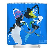 Cat Sam Shower Curtain