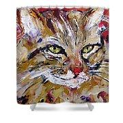 Feline Portrait  Shower Curtain