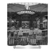 Catal Outdoor Cafe Downtown Disneyland Bw Shower Curtain