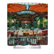 Catal Outdoor Cafe Downtown Disneyland Photo Art 03 Shower Curtain