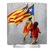 Catalan National Day 2014 Shower Curtain