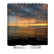 Catalina Island Sunset Shower Curtain