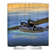 Catalina Over Islands Shower Curtain