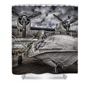 Catalina Pby-5a Miss Pick Up Hdr Shower Curtain