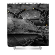 Catalina Pby-5a Miss Pick Up Mono Shower Curtain