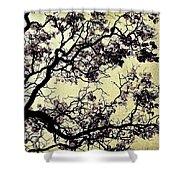 Catalpa Tree Gold Shower Curtain