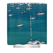 Catamaran  St Thomas Usvi Shower Curtain