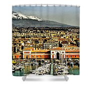 Catania Sicily Shower Curtain