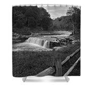 Cataract Falls Indiana Black N White Shower Curtain