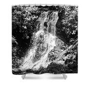 Cataract Falls Smoky Mountains Bw Shower Curtain