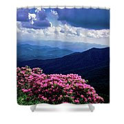 Catawba Rhododendron In Bloom, Yellow Shower Curtain