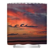 Catch The Cloud Wave Shower Curtain