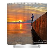 Catching A Navarre Sunset Shower Curtain