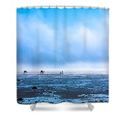 Catching Blue Shower Curtain