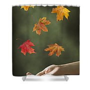 Catching Leaves Shower Curtain