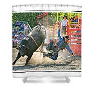 Catching Spur Shower Curtain