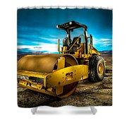 Caterpillar Cat Roller Cs563e Shower Curtain